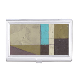 Contemporay Minimalist Painting with Deep Color Business Card Holder