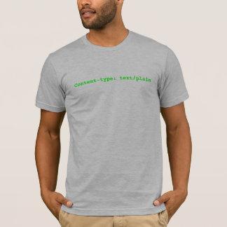 Content-type: text/plain T-Shirt