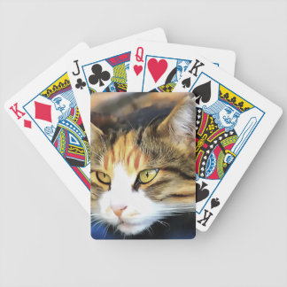 Contented Cat Bicycle Playing Cards