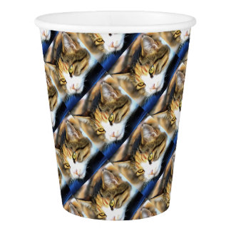 Contented Cat Paper Cup