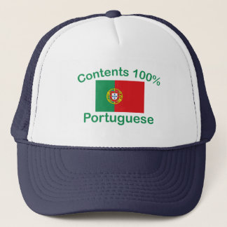 Contents 100% Portuguese Trucker Hat