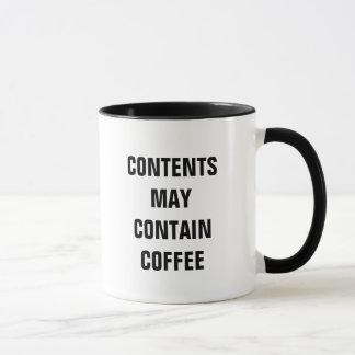Contents May Contain Coffee (Mug) Mug