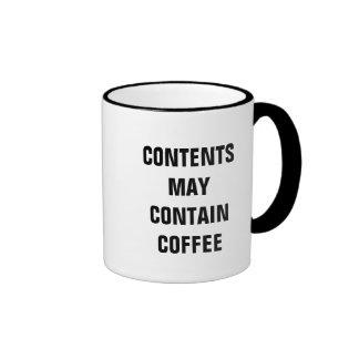 Contents May Contain Coffee (Mug) Ringer Mug
