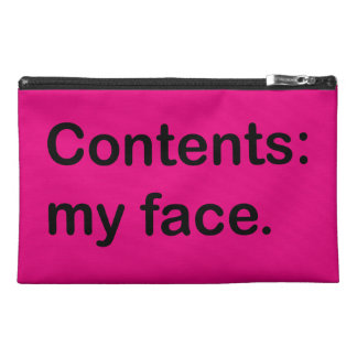 Contents: My Face. Bag Travel Accessory Bag