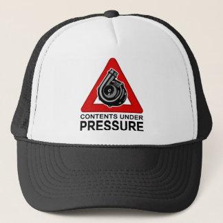 CONTENTS UNDER PRESSURE TRUCKER HAT
