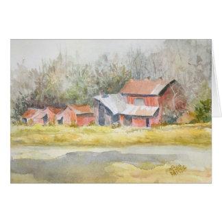 """Contexture""--Fall Woods & Barns Card"