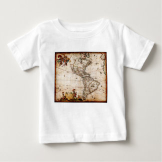 Continent of America Old Map Baby T-Shirt