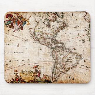 Continent of America Old Map Mouse Pad