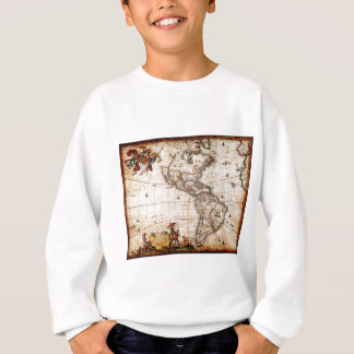 Continent of America Old Map Sweatshirt