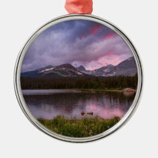 Continental Divide Stormy Rainy Sunset Sky Metal Ornament