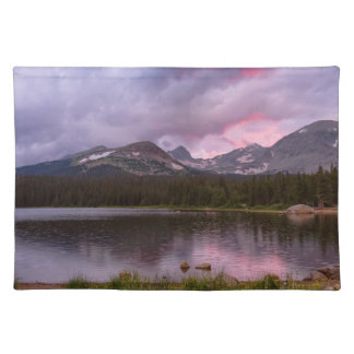 Continental Divide Stormy Rainy Sunset Sky Placemat