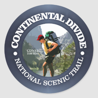 Continental Divide Trail (Hiker C) Classic Round Sticker