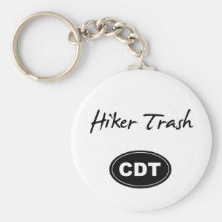 Continental Divide Trail Hiker Trash Key Chain