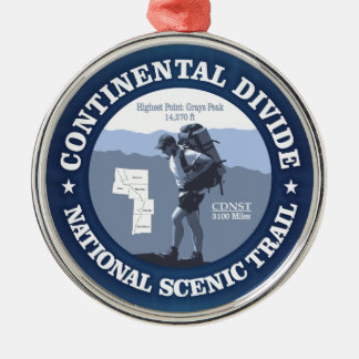 Continental Divide Trail (rd) Silver-Colored Round Decoration