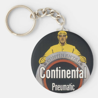 Continental Pneumatic Basic Round Button Key Ring