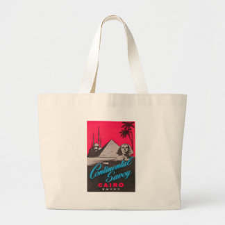 Continental Savoy Cairo Egypt Large Tote Bag