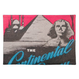 Continental Savoy Cairo Egypt Placemat