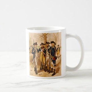 Continental Soldiers by Henry Alexander Ogden Basic White Mug