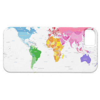 Continents World Map iPhone 5 Covers