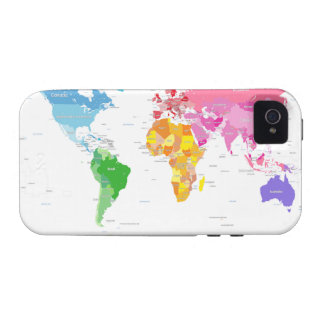 Continents World Map Case-Mate iPhone 4 Covers