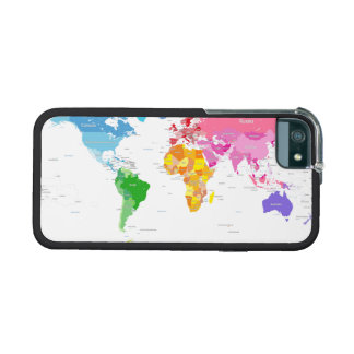 Continents World Map Cover For iPhone 5/5S