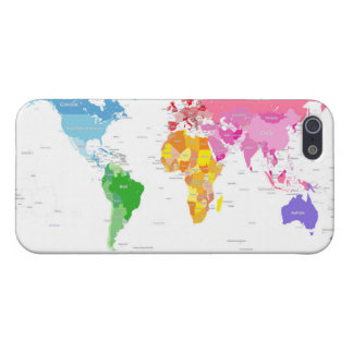 Continents World Map iPhone 5/5S Case