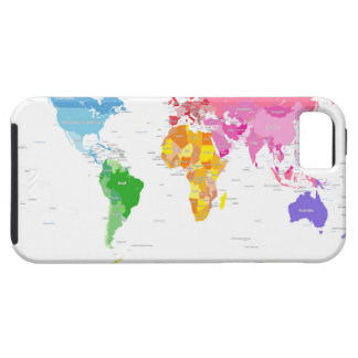 Continents World Map iPhone 5/5S Cases