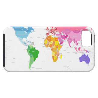 Continents World Map iPhone 5/5S Covers