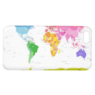 Continents World Map iPhone 5C Cases