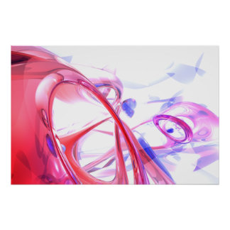 Contortion Abstract Poster