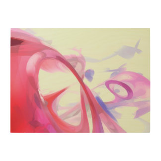 Contortion Pastel Abstract Wood Canvases
