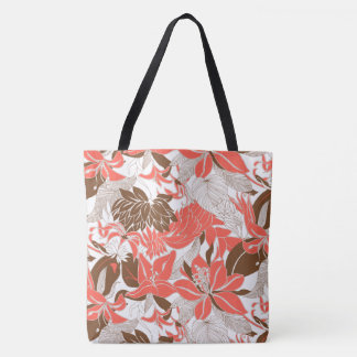 Contour Hawaii Tropical Lily and Protea Beach Bag