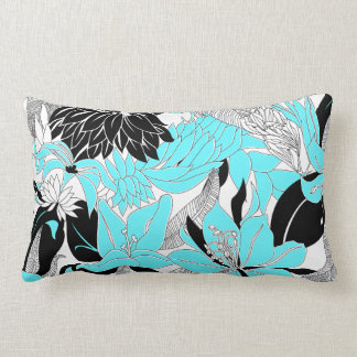 Contour Hawaii Tropical Lily and Protea Floral Lumbar Pillow