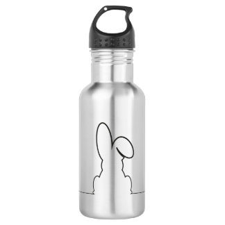 Contour of a hare 532 ml water bottle
