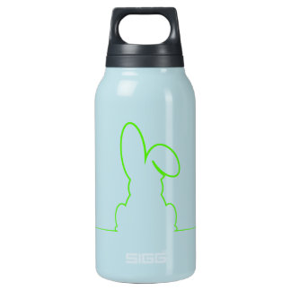 Contour of a hare light gre insulated water bottle