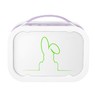 Contour of a hare light gre lunch box