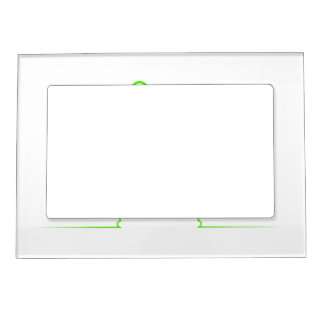 Contour of a hare light gre magnetic picture frame