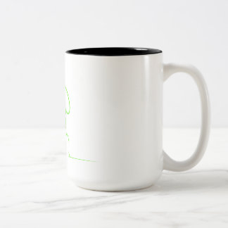 Contour of a hare light gre Two-Tone coffee mug