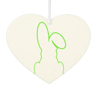 Contour of a hare light green car air freshener
