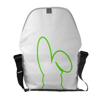 Contour of a hare light green commuter bags