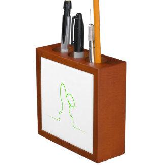 Contour of a hare light green desk organiser