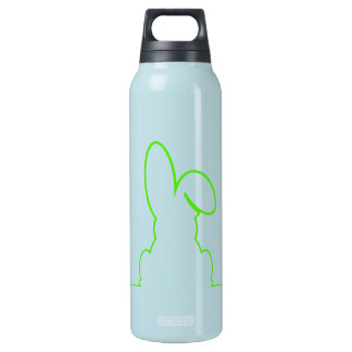 Contour of a hare light green insulated water bottle