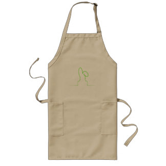 Contour of a hare light green long apron