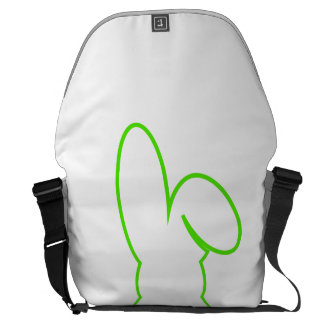 Contour of a hare light green messenger bag