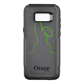 Contour of a hare light green OtterBox commuter samsung galaxy s8+ case