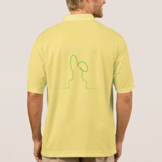 Contour of a hare light green polo shirt