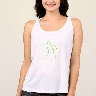 Contour of a hare light green singlet