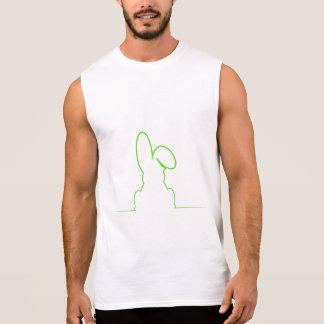 Contour of a hare light green sleeveless shirt