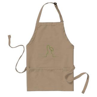 Contour of a hare light green standard apron