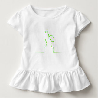 Contour of a hare light green toddler T-Shirt